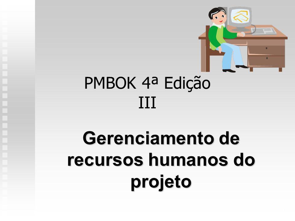 1 PMBOK 4ª Edição III Gerenciamento de recursos humanos do projeto