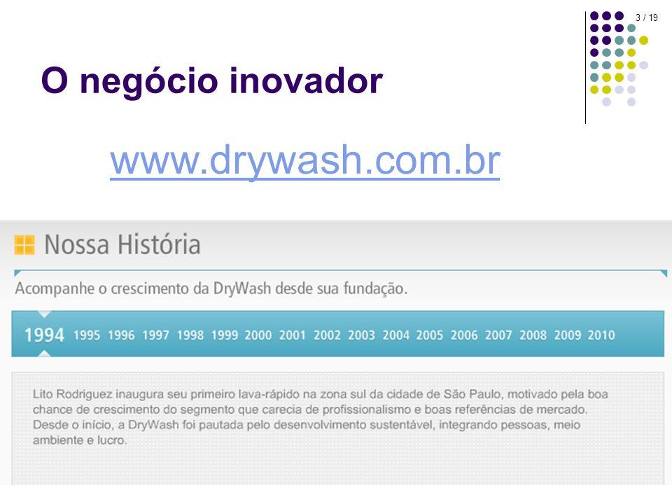 3 / 19 O negócio inovador www.drywash.com.br