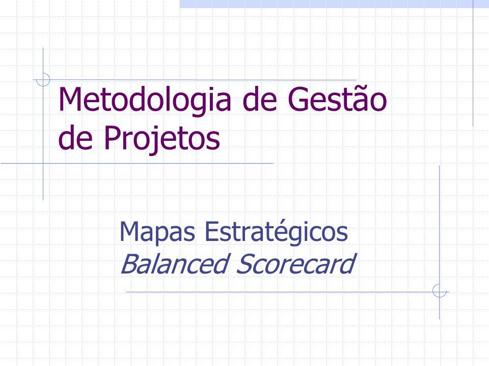 Metodologia de Gestão de Projetos Mapas Estratégicos Balanced Scorecard