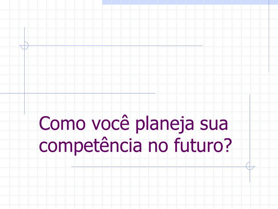 Como você planeja sua competência no futuro?