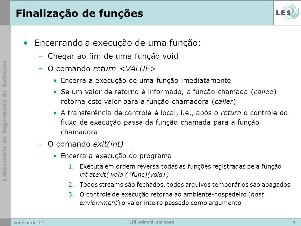 Tratamento de exceções Vídeo do Bill Gates: –http://www.youtube.com/watch?v=TrAD25V7ll8http://www.youtube.com/watch?v=TrAD25V7ll8 janeiro de 1420 Eiji Adachi Barbosa