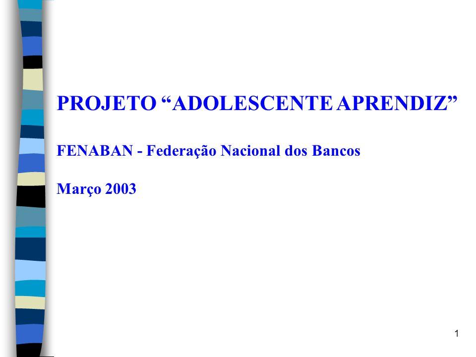 1 PROJETO ADOLESCENTE APRENDIZ FENABAN - Federação Nacional dos Bancos Março 2003