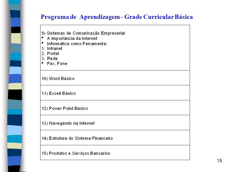 15 Programa de Aprendizagem - Grade Curricular Básica