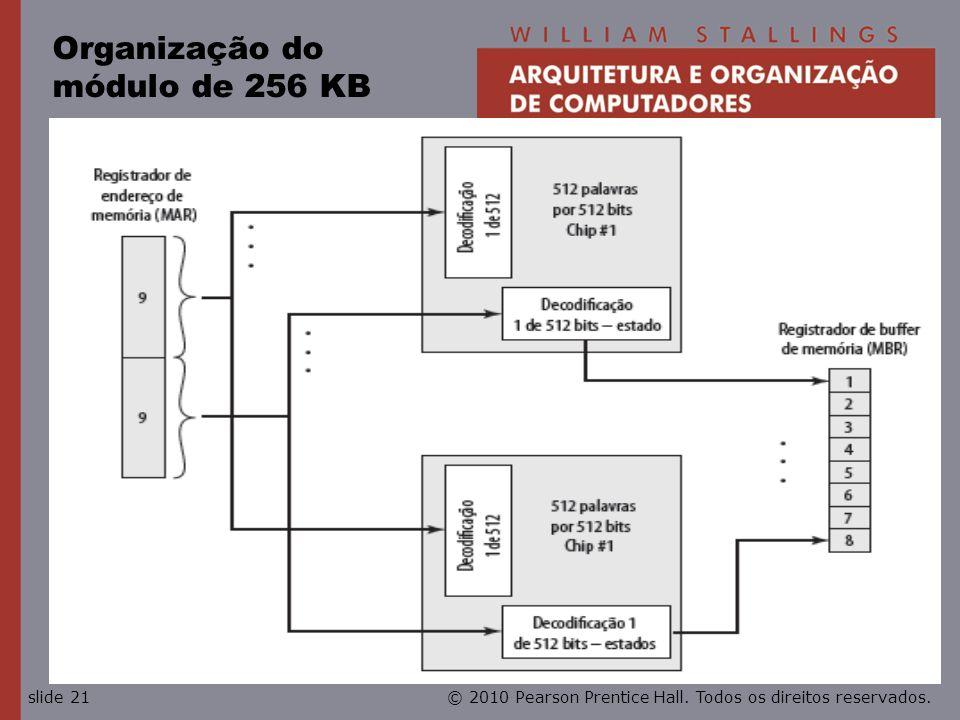 © 2010 Pearson Prentice Hall. Todos os direitos reservados.slide 21 Organização do módulo de 256 KB