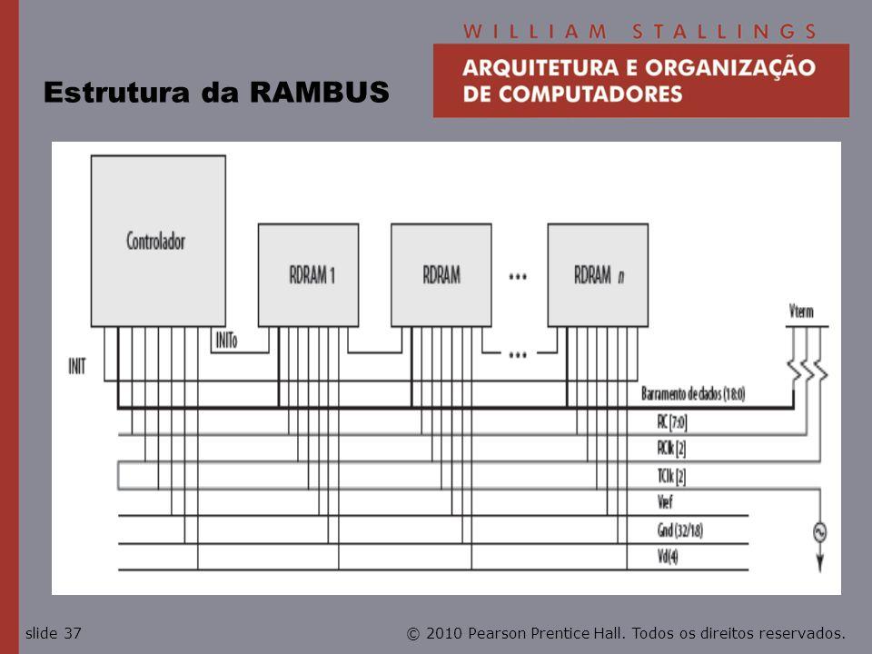 © 2010 Pearson Prentice Hall. Todos os direitos reservados.slide 37 Estrutura da RAMBUS