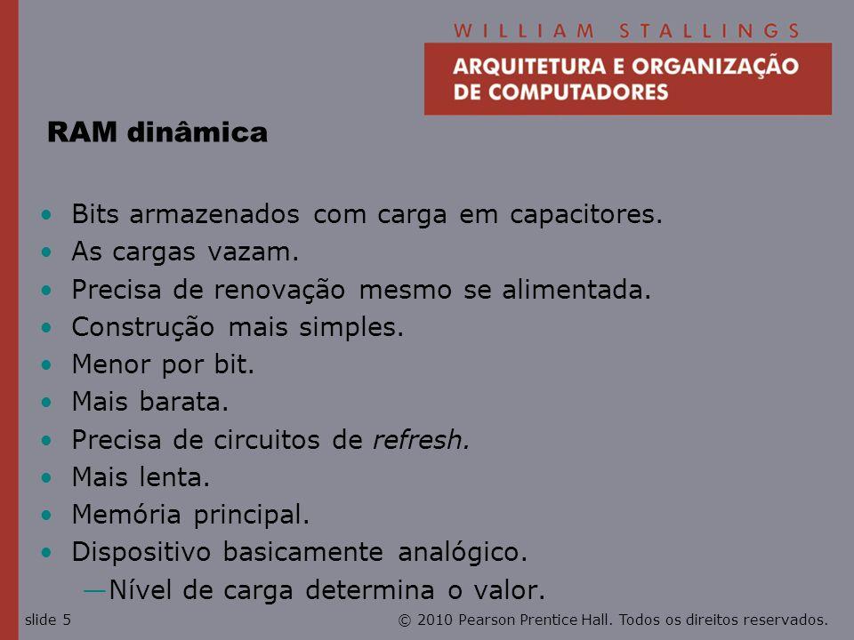 © 2010 Pearson Prentice Hall. Todos os direitos reservados.slide 6 Estrutura da RAM dinâmica