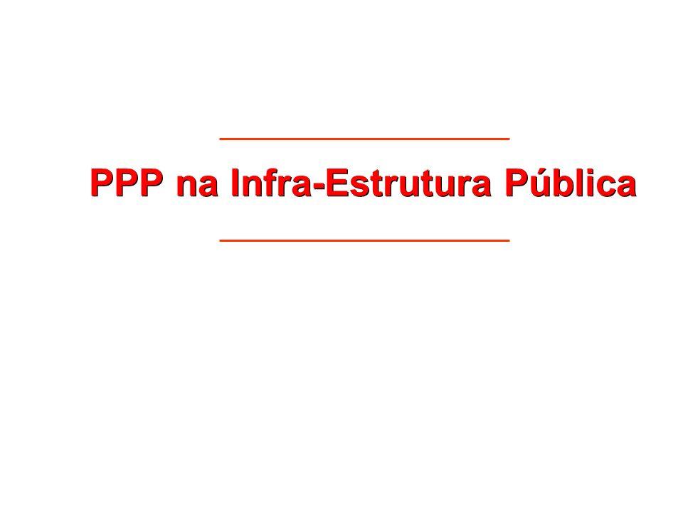 PPP na Infra-Estrutura Pública
