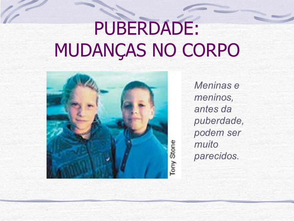 PUBERDADE: MUDANÇAS NO CORPO Meninas e meninos, antes da puberdade, podem ser muito parecidos.
