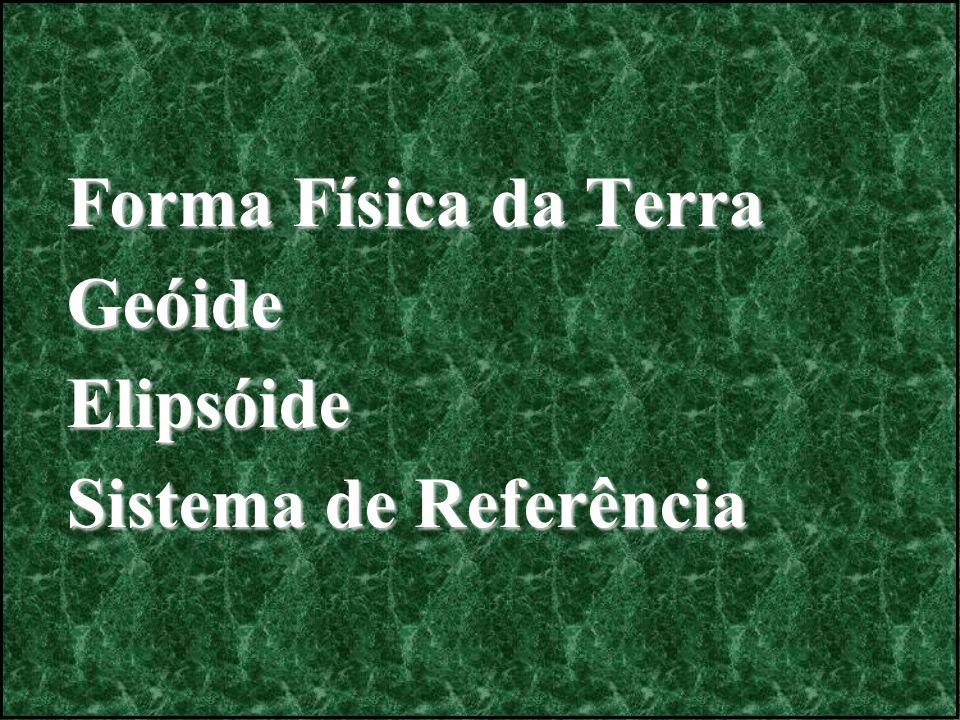 Forma Física da Terra GeóideElipsóide Sistema de Referência