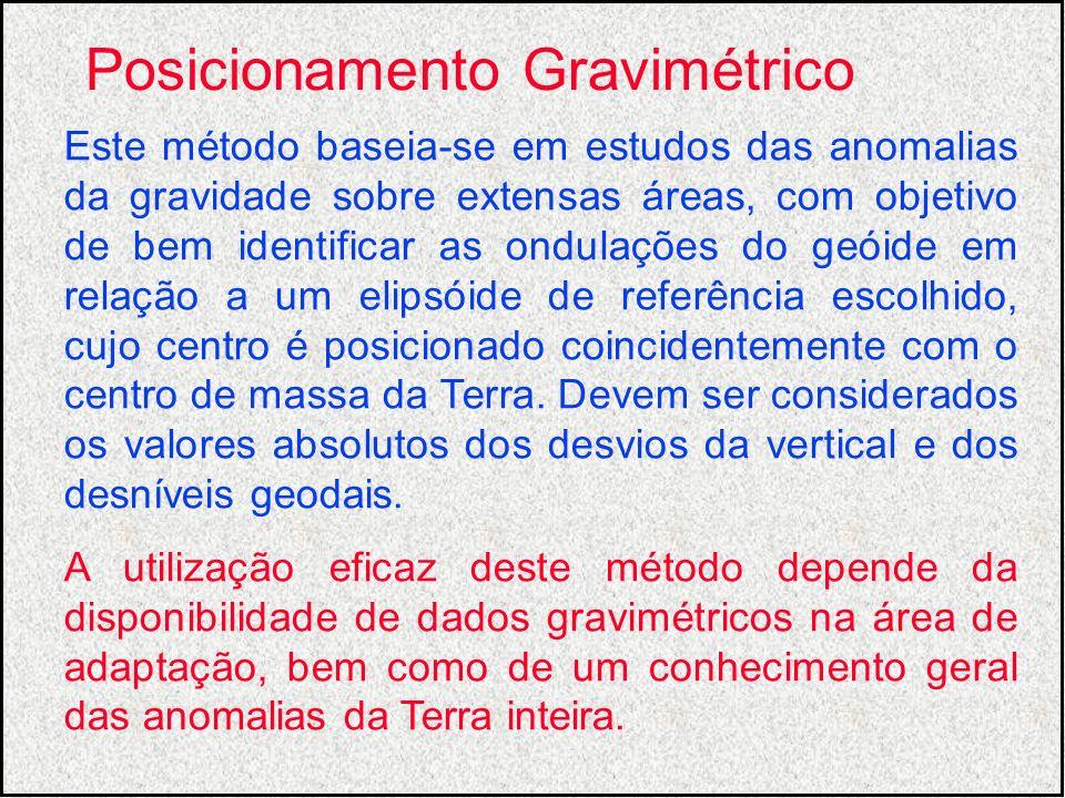 Este método baseia-se em estudos das anomalias da gravidade sobre extensas áreas, com objetivo de bem identificar as ondulações do geóide em relação a
