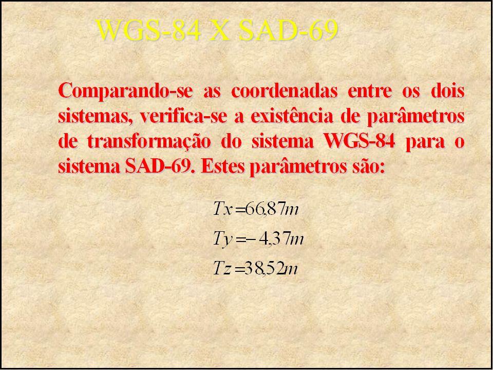 WGS-84 X SAD-69