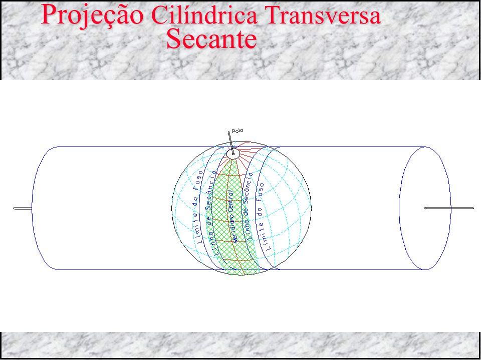 Projeção Cilíndrica Transversa Secante
