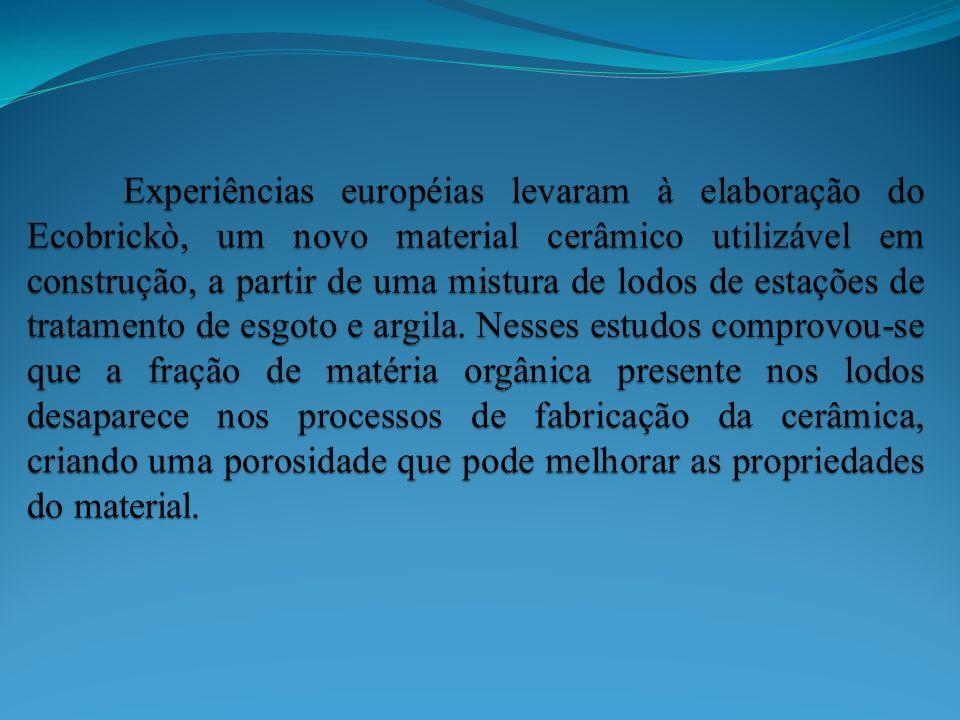 UTILIZAÇÃO DE LODO DE ETE NO DESENVOLVIMENTO DE NOVOS COMPOSTOS CERÂMICOS Universidade Federal do Paraná – Centro Politécnico – Laboratório de Tecnologia Ambiental