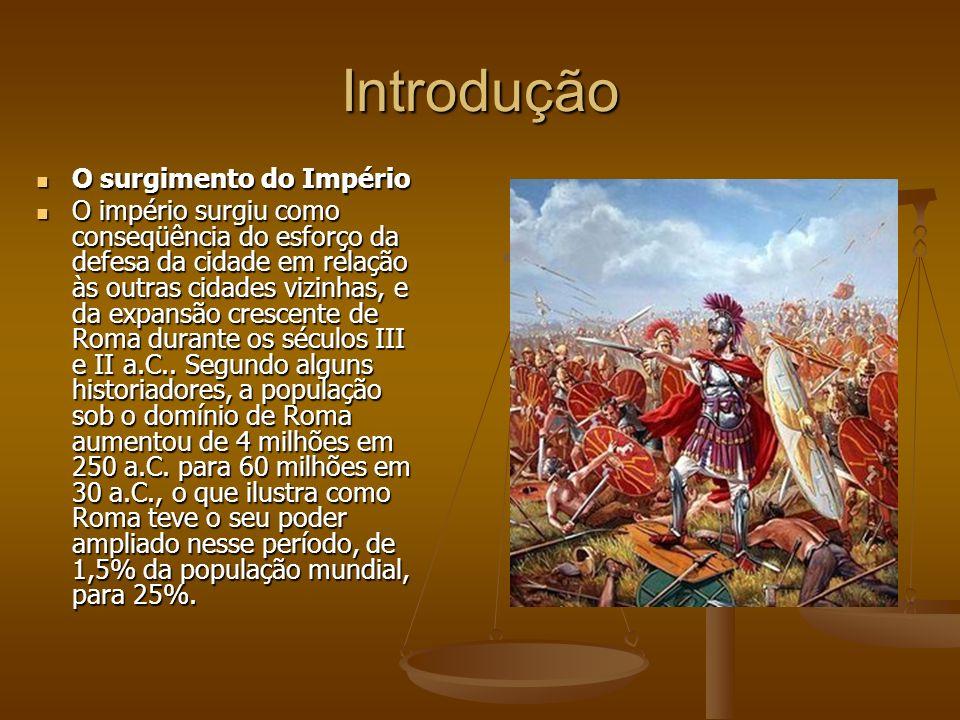 Introdução O surgimento do Império O surgimento do Império O império surgiu como conseqüência do esforço da defesa da cidade em relação às outras cida