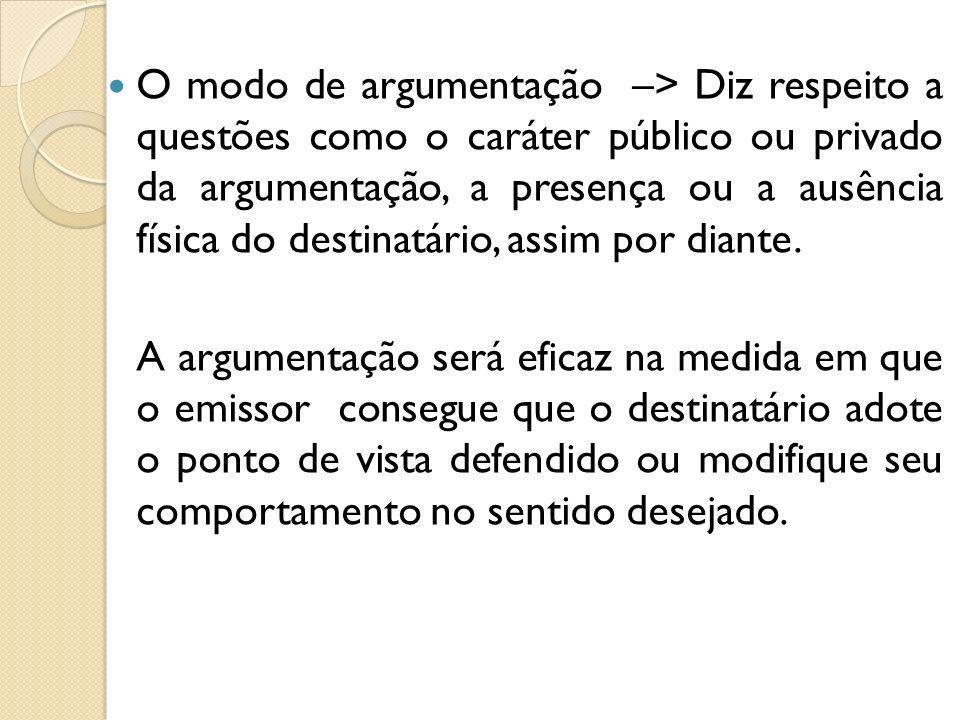 Os argumentos A opinião que se sustenta recebe o nome de tese, e as razões que se alegam em sua defesa denominam-se argumentos.