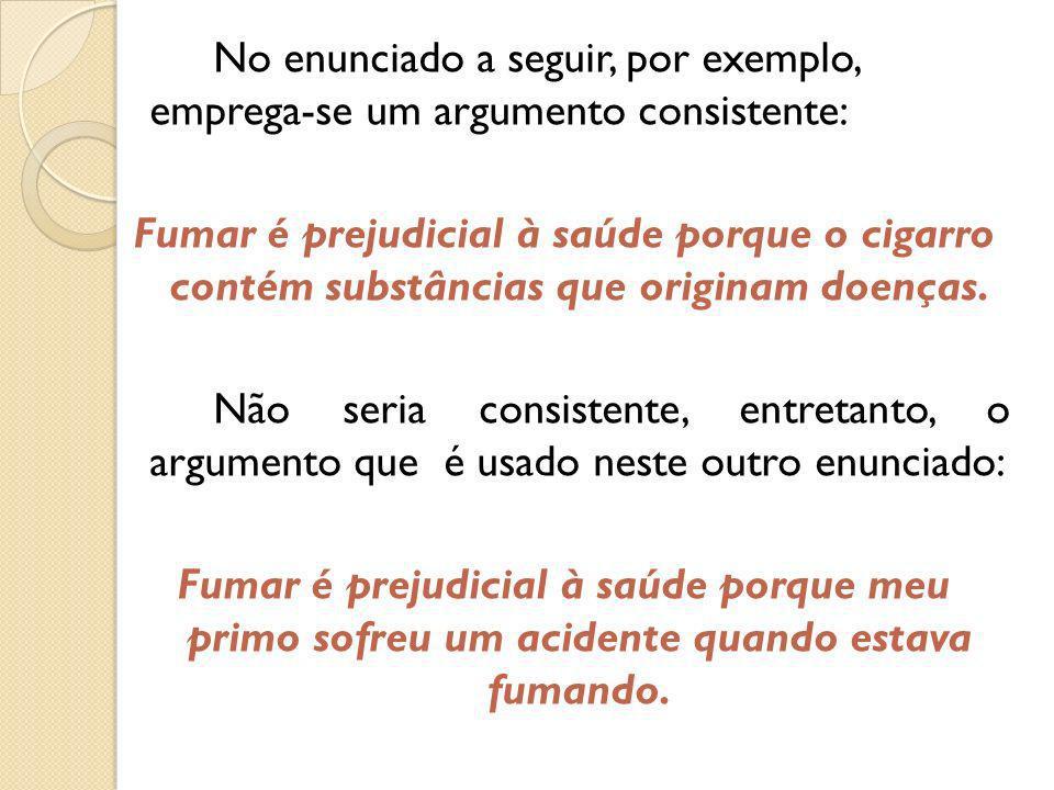 Partes do texto argumentativo A tese é a ideia que será defendida e, em geral, é expressa no início do texto.