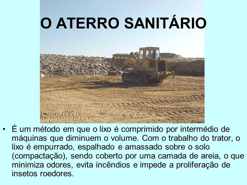 O LIXÃO São locais onde o lixo é depositado, em grande quantidade, sobre a superfície do solo e a céu aberto, sem qualquer controle sobre os efeitos d