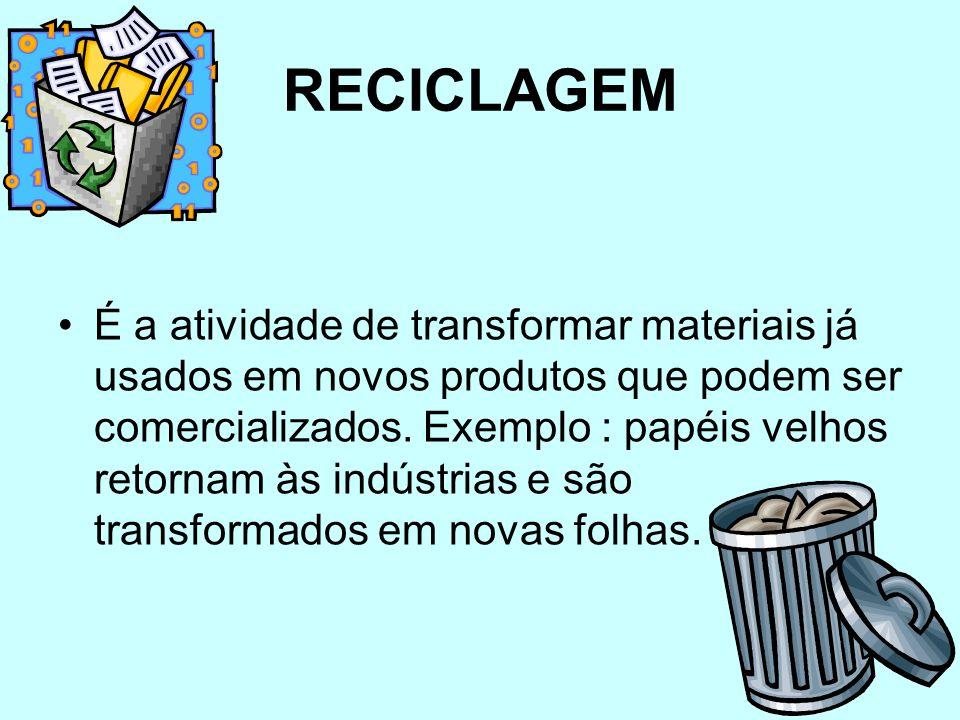 Já é inquestionável hoje a importância da reciclagem de materiais, que assume uma posição cada vez mais estratégica em qualquer ação envolvendo cidada