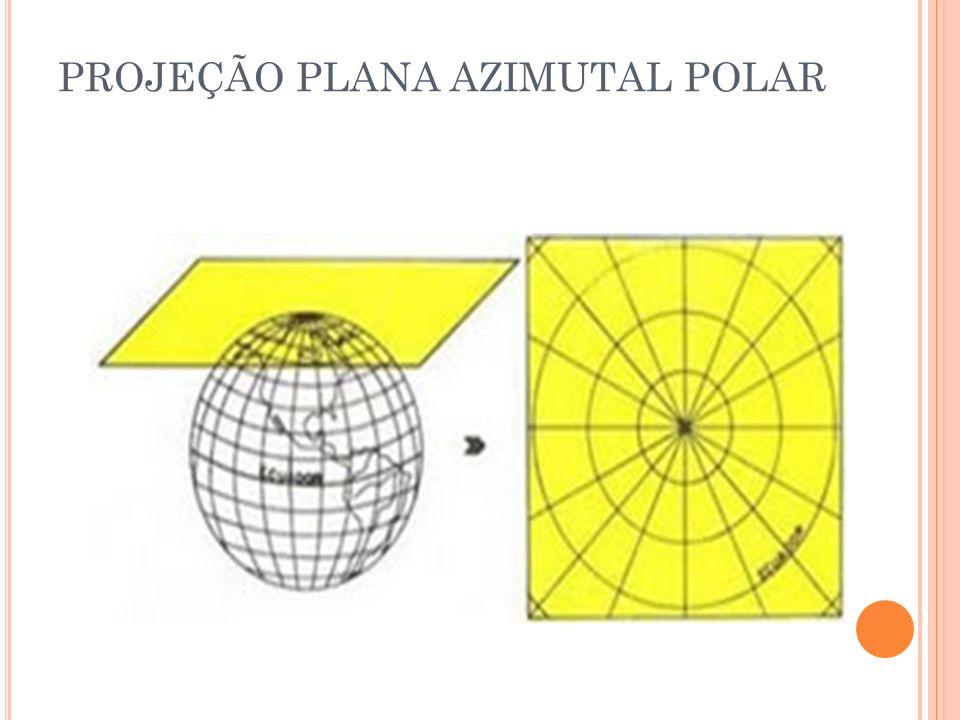 PROJEÇÃO PLANA AZIMUTAL POLAR