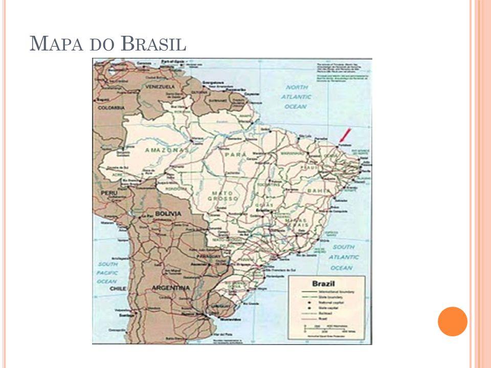 M APA DO B RASIL exemplo, um mapa do Brasil abaixo: Mapa do Brasil