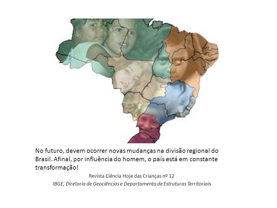 No futuro, devem ocorrer novas mudanças na divisão regional do Brasil. Afinal, por influência do homem, o país está em constante transformação! Revist