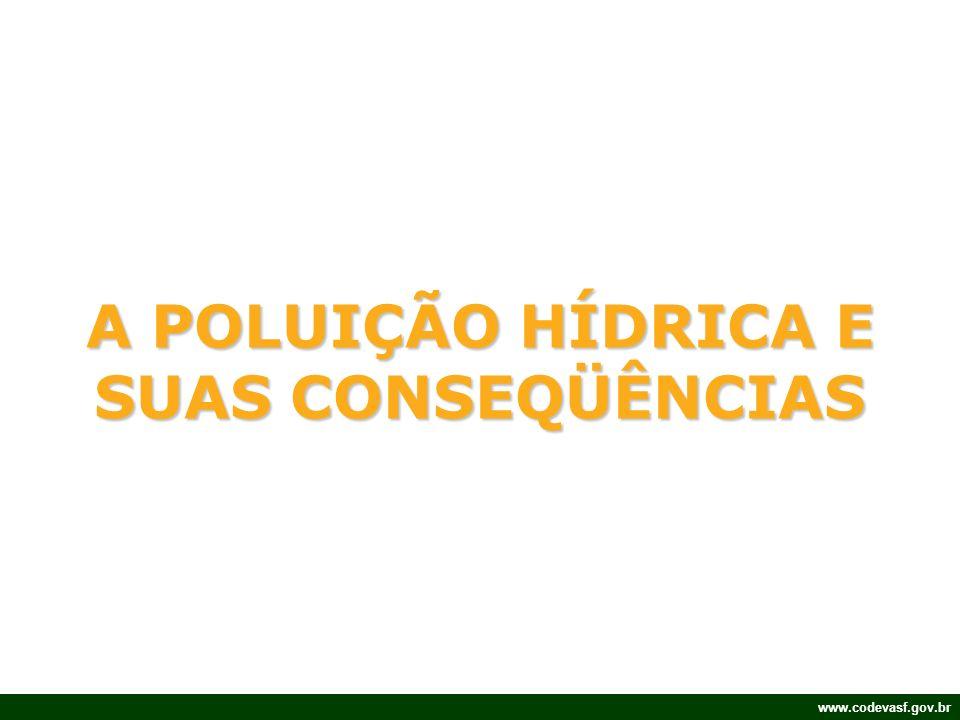 www.codevasf.gov.br A POLUIÇÃO HÍDRICA E SUAS CONSEQÜÊNCIAS