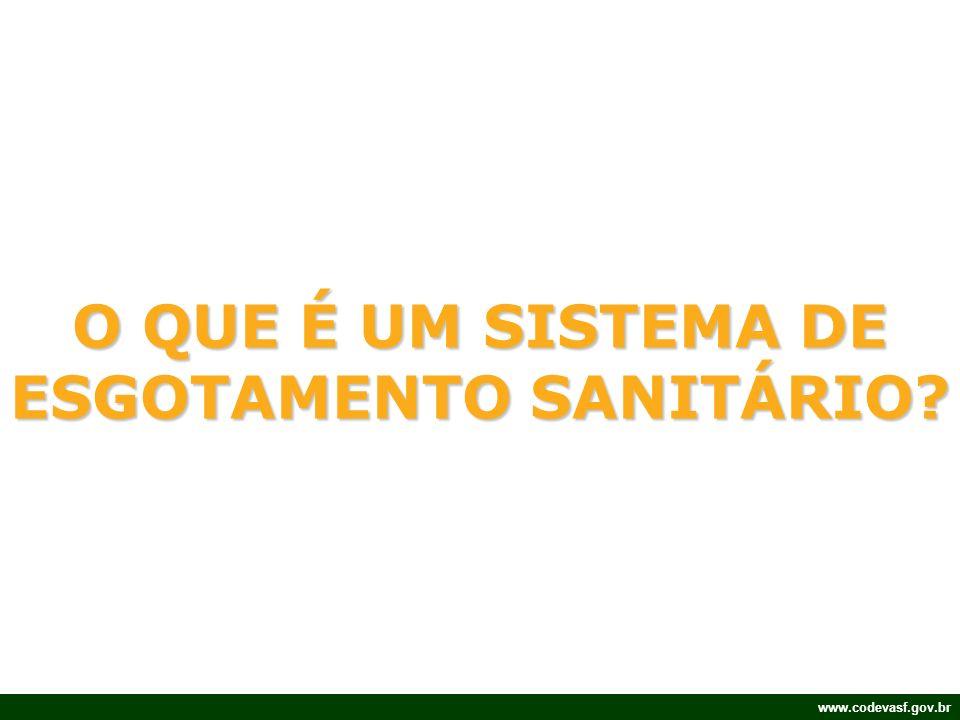 www.codevasf.gov.br O QUE É UM SISTEMA DE ESGOTAMENTO SANITÁRIO?