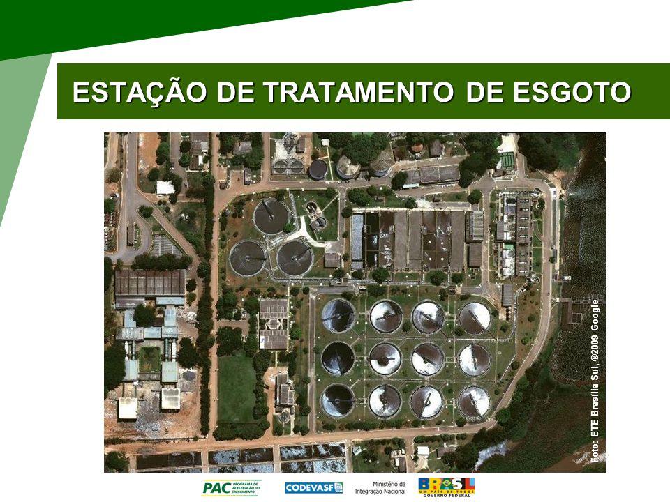 ESTAÇÃO DE TRATAMENTO DE ESGOTO Foto: ETE Brasília Sul, ®2009 Google