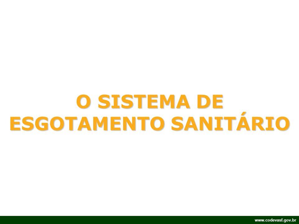 www.codevasf.gov.br O SISTEMA DE ESGOTAMENTO SANITÁRIO