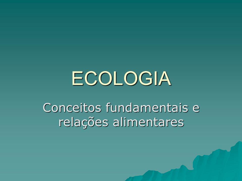 ECOLOGIA Conceitos fundamentais e relações alimentares