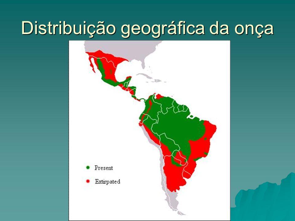Distribuição geográfica da onça
