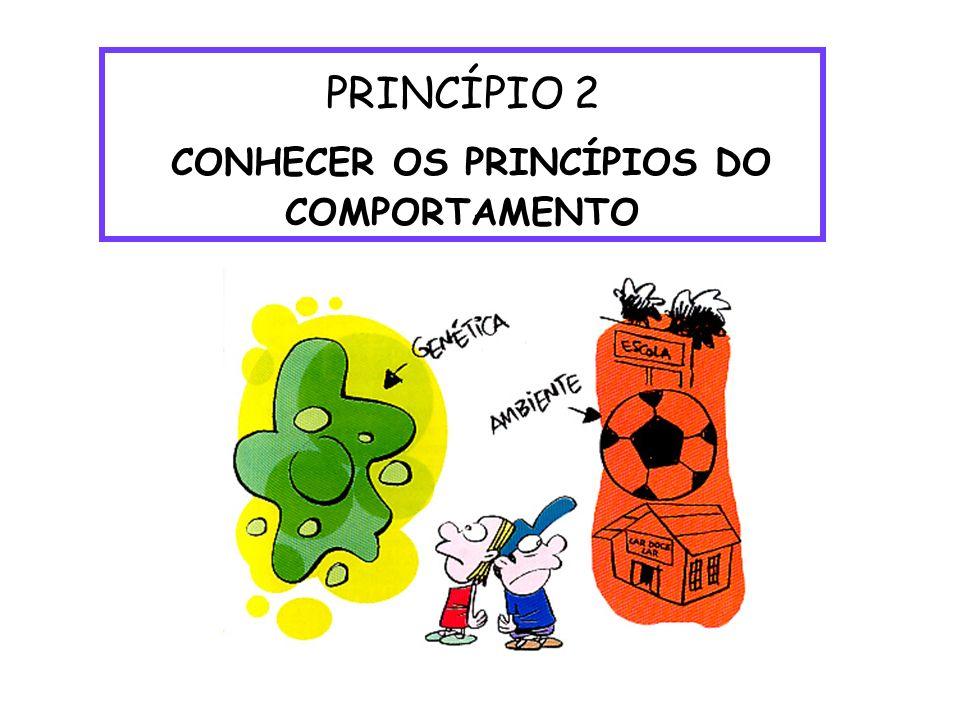 PRINCÍPIO 2 CONHECER OS PRINCÍPIOS DO COMPORTAMENTO