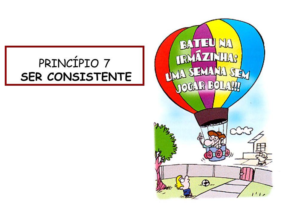 PRINCÍPIO 7 SER CONSISTENTE