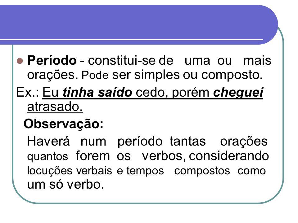 Sujeito Tipos de sujeito simples - possui um núcleo.