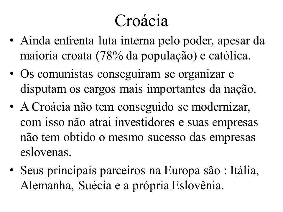 Ainda enfrenta luta interna pelo poder, apesar da maioria croata (78% da população) e católica. Os comunistas conseguiram se organizar e disputam os c