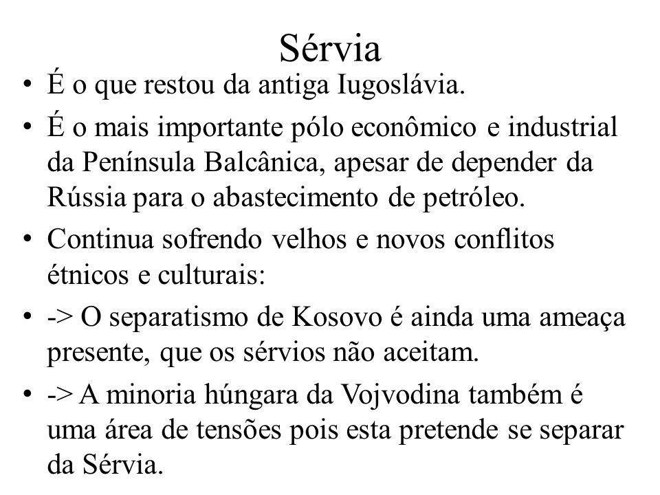 É o que restou da antiga Iugoslávia. É o mais importante pólo econômico e industrial da Península Balcânica, apesar de depender da Rússia para o abast
