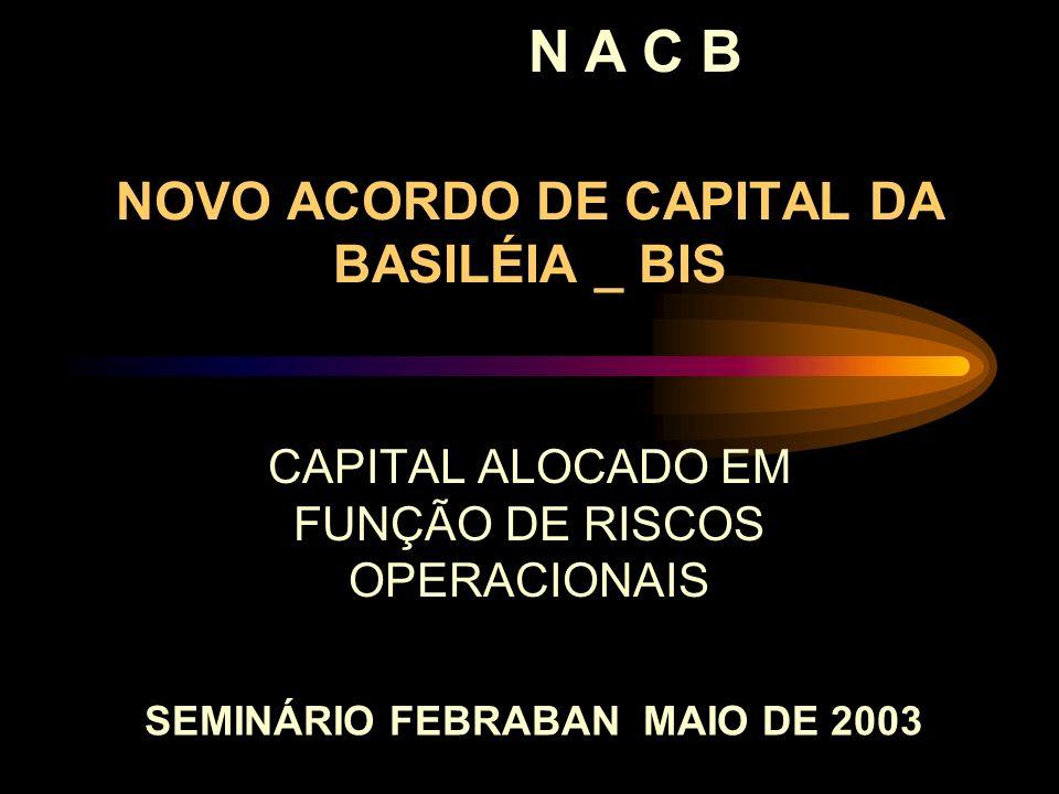 NOVO ACORDO DE CAPITAL DA BASILÉIA _ BIS CAPITAL ALOCADO EM FUNÇÃO DE RISCOS OPERACIONAIS N A C B SEMINÁRIO FEBRABAN MAIO DE 2003