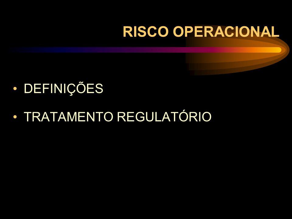RISCO OPERACIONAL DEFINIÇÕES TRATAMENTO REGULATÓRIO