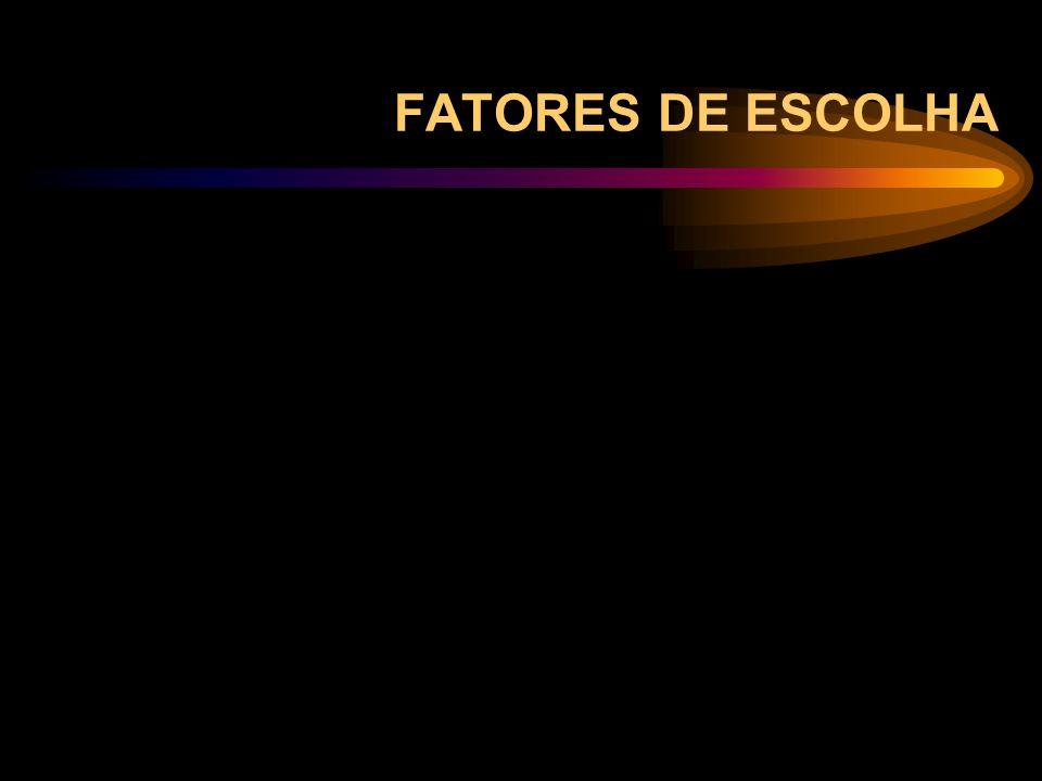 FATORES DE ESCOLHA