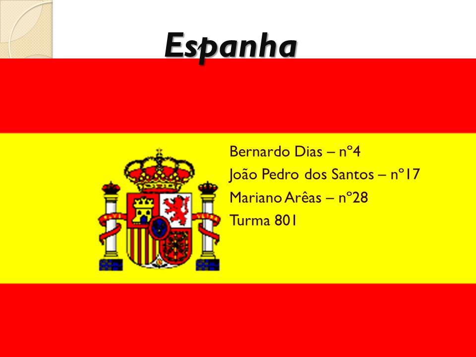 Economia Atualmente, a Espanha está entre os 10 países com maior PIB.