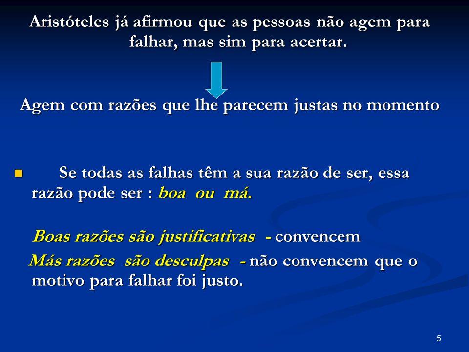 5 Aristóteles já afirmou que as pessoas não agem para falhar, mas sim para acertar. Aristóteles já afirmou que as pessoas não agem para falhar, mas si