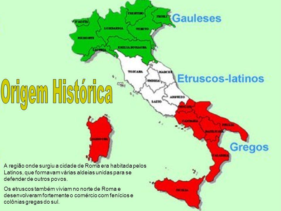 A região onde surgiu a cidade de Roma era habitada pelos Latinos, que formavam várias aldeias unidas para se defender de outros povos. Os etruscos tam