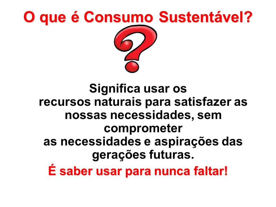 Reduza o uso de embalagens: Embalagem menor é sinônimo de desperdício de água, combustível e recursos naturais.