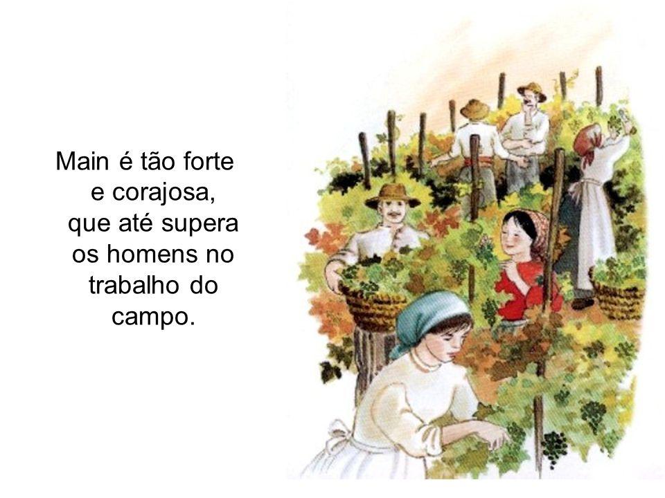 A pequena família cresce em torno de Maria Domingas e Petronila.