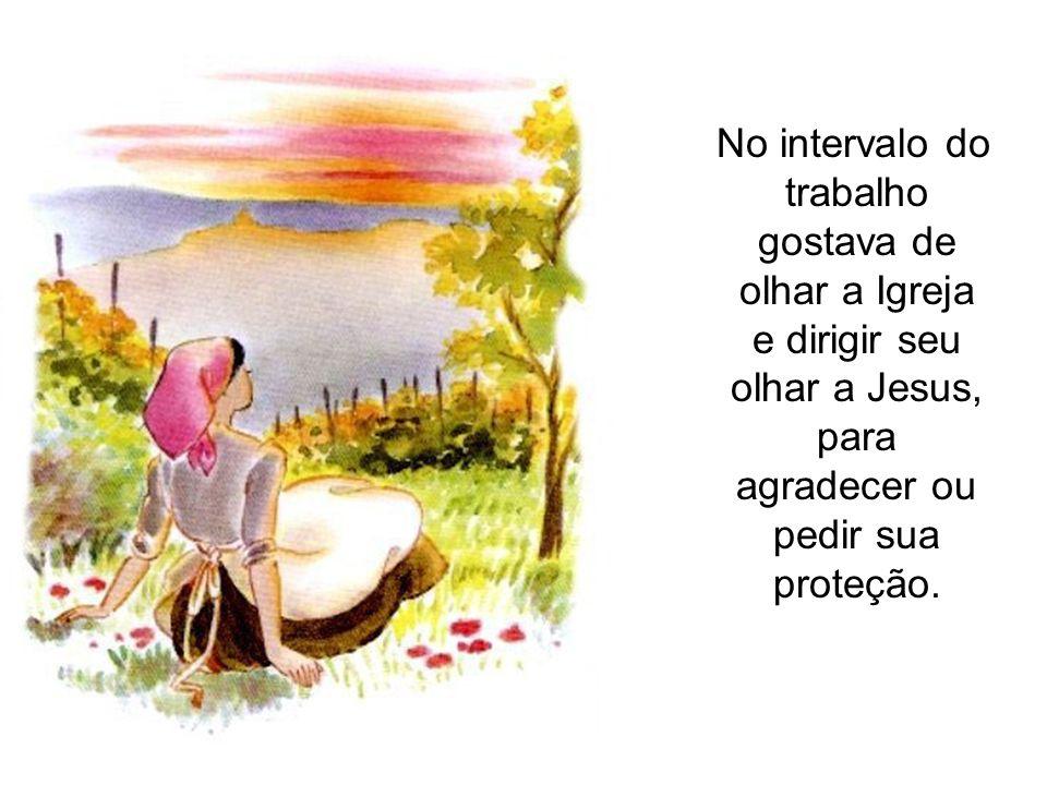 A tarde, a sós com Petronila, Maria confidencia: Que cada ponto seja um ato de amor a Deus.