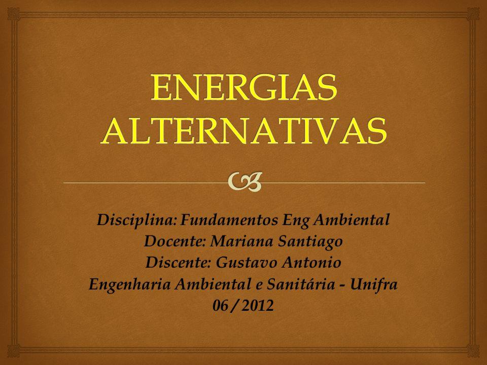 A energia alternativa é uma energia sustentável que deriva do meio ambiente natural.
