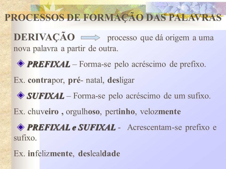 PARASSINTÉTICA PARASSINTÉTICA – forma-se pelo acréscimo simultâneo de prefixo e sufixo.