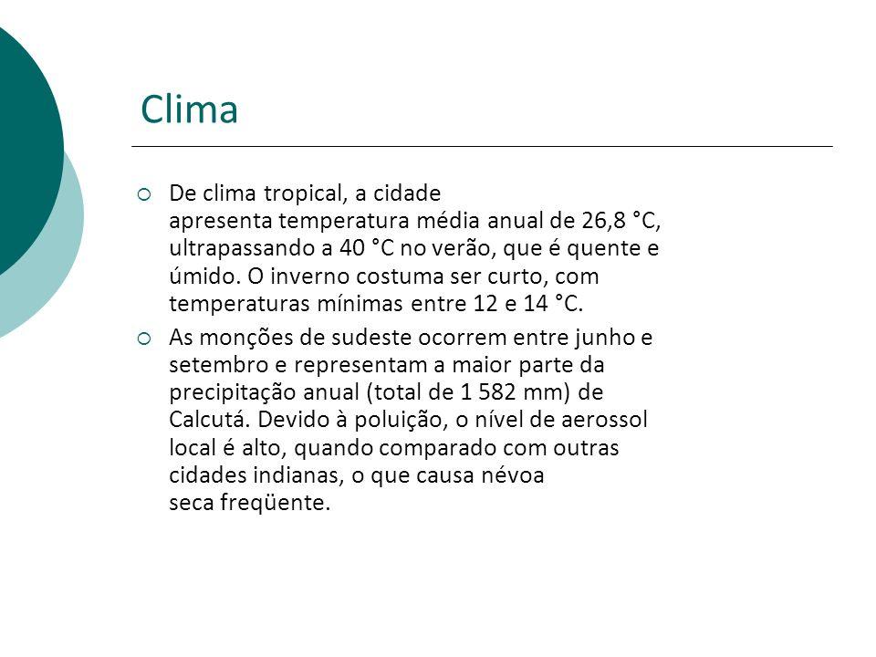 Clima De clima tropical, a cidade apresenta temperatura média anual de 26,8 °C, ultrapassando a 40 °C no verão, que é quente e úmido.