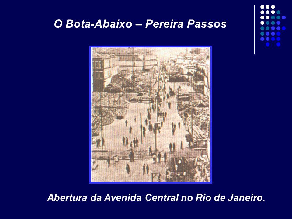 Abertura da Avenida Central no Rio de Janeiro. O Bota-Abaixo – Pereira Passos