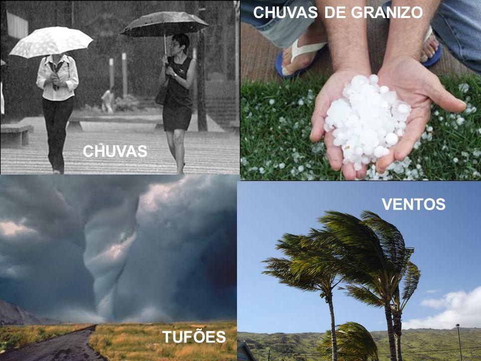 Exemplo de climograma Um climograma representa: Quantidades de temperaturas (em graus) e de precipitações/chuvas (em mm), para os meses do ano.